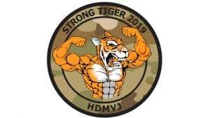 logo for hjemmeværnsøvelsen Strong Tiger 2019