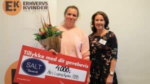 Prisvinder Katrine Koch Frandsen og ann Michelle Dalgaard fra Erhvervskvinder