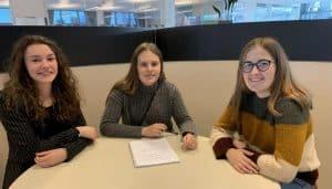 Albijana Omura, Helene Jørgensen og Rebekka Bundgaard Sørensen har alle givet mundtligt samtykke til foto. Foto: Merete Jensen