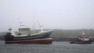 Ri 433 Emmalie ankommer til Hvide Sande Havn