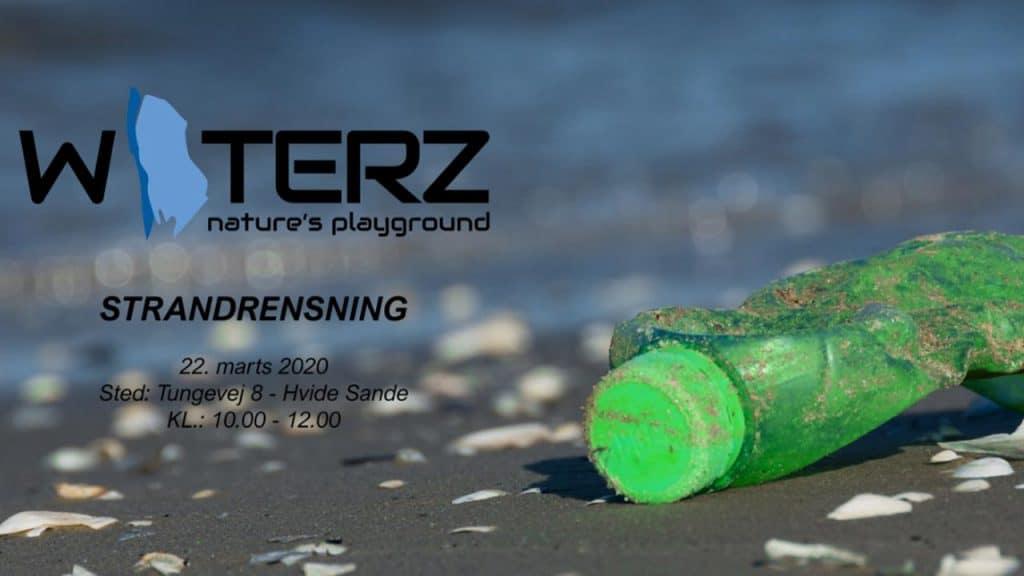 WATERZ strandrensning søndag den 22. marts 2020
