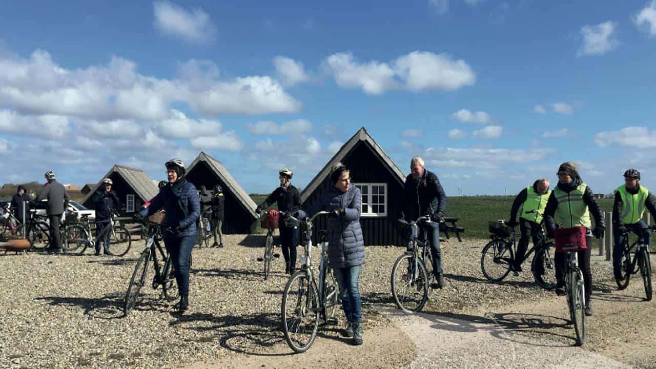 Søndagsaktiviteterne er også cykelture ud i det fri