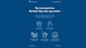Ny Coronavirus plakat - Beskyt dig selv og andre