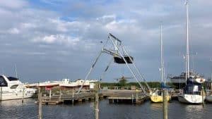 Hvide Sande Shipyard, Steel & Service har udviklet og produceret en ny bådkran til Bork Havn, der ligger i den sydlige del af Ringkøbing Fjord.