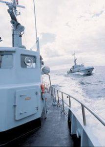 hjemmeværnsflotille 126 Hvide Sande / Ringkøbing med deres fartøj MHV 806 »DUBHE«