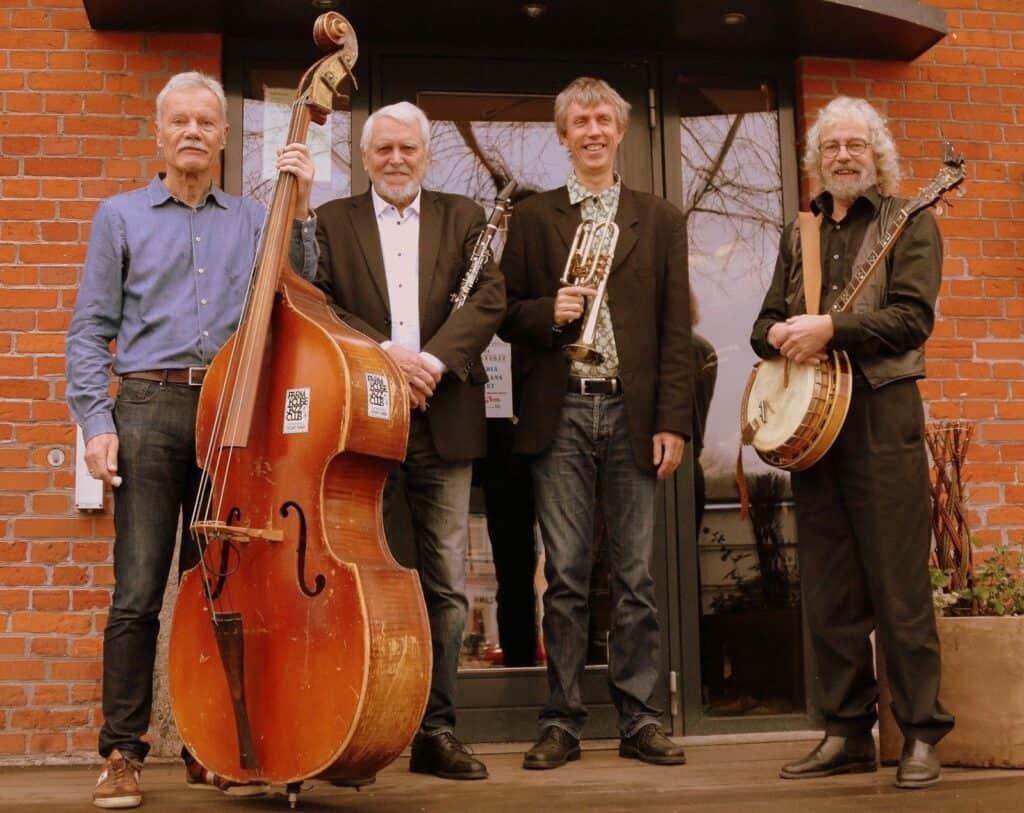 Svingende og rytmisk jazz med Jutlandia New Orleans Quartet