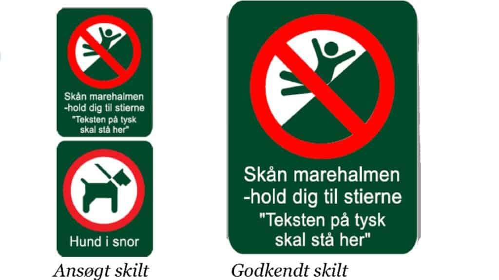 Dispensation til opsætning af »piktogrammer« ved Årgab