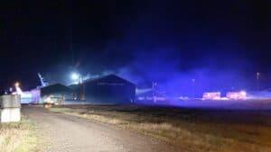 Trods en kortslutnings-brand på Vestværftet i aftes - arbejder alle i dag