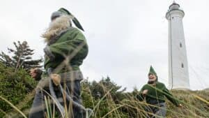 Grønne nisser ved Lyngvig Fyr