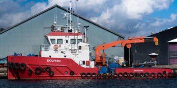 En opgave-art som NH Towage ikke er helt ukendt med og som de har prøvet mange gange før. foto: Dolphin NH Towage Svendborg