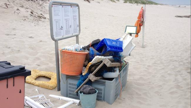 indsamling af affald på søndag i Hvide Sande