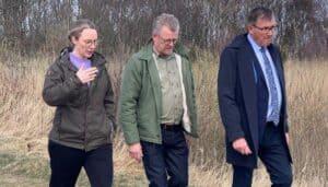 Miljøminister Lea Wermelin, Søren Elbæk og Hans Øsytergaard. Foto: Merete Jensen