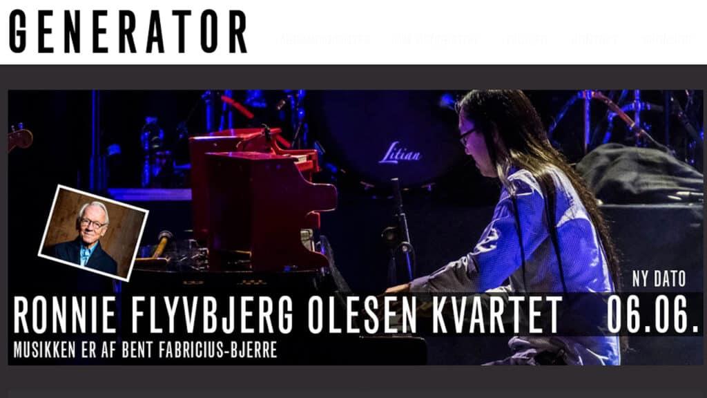 Bent Fabricius-Bjerre hyldes ved koncert på Generator