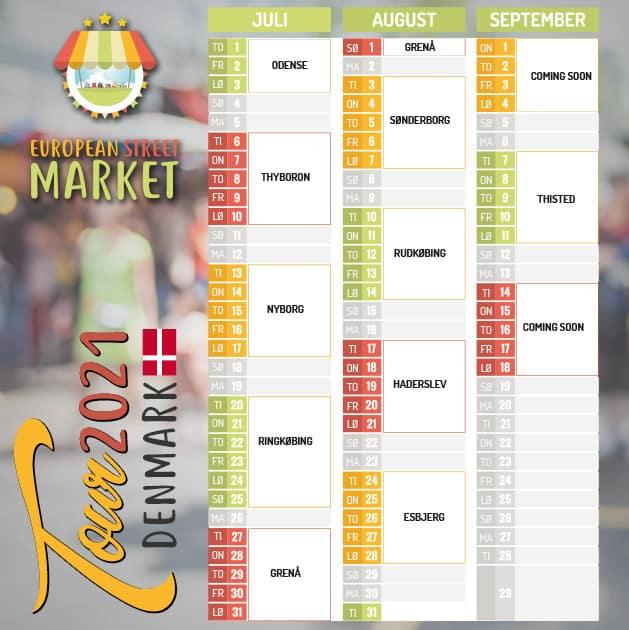 European Street Market besøger følgende byer