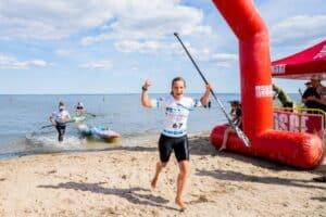 Dansker vinder EURO TOUR i stand-up-paddle i Hvide Sande. Foto : Jakob Gjerluff Ager.