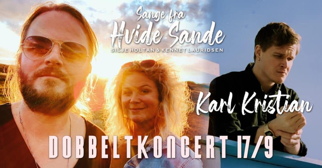 """Når 3 sangskriver-hjerter banker for Hvide Sande """"Sange fra Hvide Sande"""" & Karl Kristian skaber ny musik sammen"""